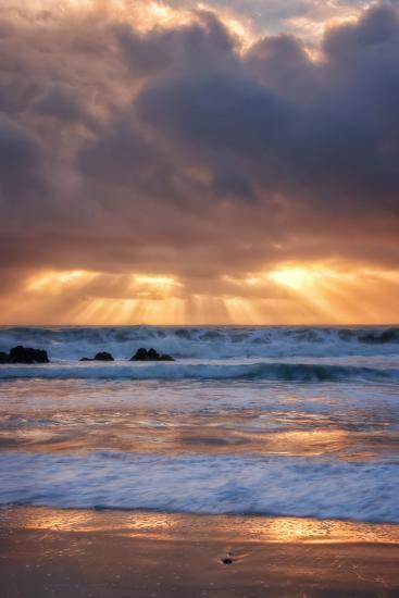 Shore Beams at Pfeiffer Beach-Vincent James-Photographic Print