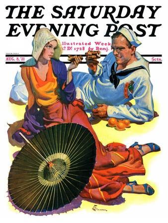 """Shore Leave,"" Saturday Evening Post Cover, August 8, 1931-Elbert Mcgran Jackson-Giclee Print"
