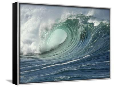 Shorebreak Waves in Waimea Bay-Rick Doyle-Framed Canvas Print