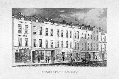 Shoreditch High Street, London, C1825--Giclee Print
