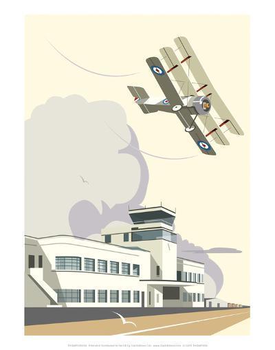 Shoreham Airport Blank - Dave Thompson Contemporary Travel Print-Dave Thompson-Art Print