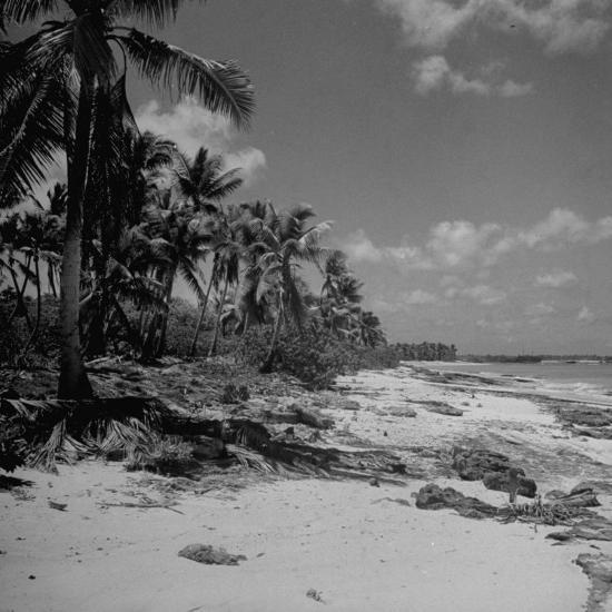 Shoreline at Bikini Atoll on Day of Atomic Bomb Test-Bob Landry-Photographic Print
