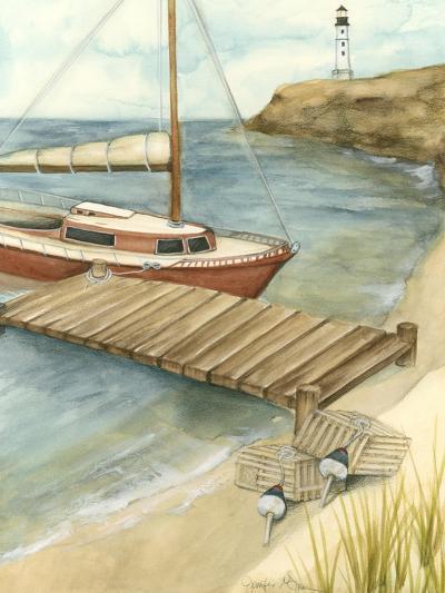 Shoreline Dock II-Jennifer Goldberger-Art Print