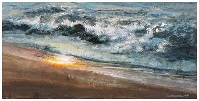 Shoreline study 02015-Carole Malcolm-Art Print