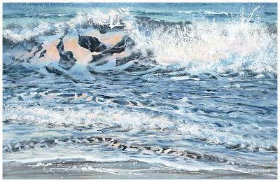Shoreline study 14-Carole Malcolm-Art Print