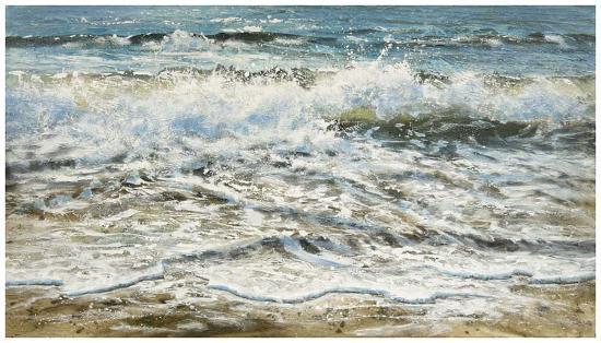 Shoreline study 6-Carole Malcolm-Art Print