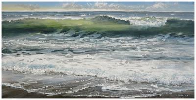 Shoreline study 8-Carole Malcolm-Art Print