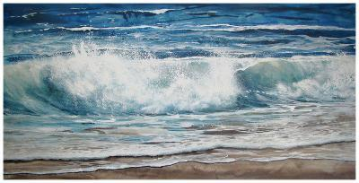 Shoreline study 9-Carole Malcolm-Art Print