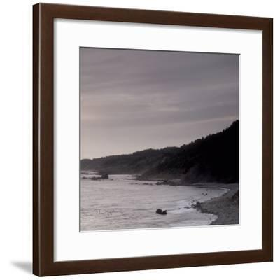 Shoreline Triptych Right-Alan Majchrowicz-Framed Photographic Print