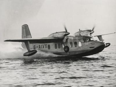 Short Sealand Amphibian Airplane--Photographic Print