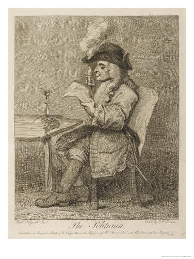 Short-Sighted Politician-William Hogarth-Giclee Print