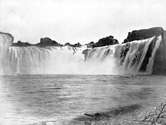 Shoshone Falls, Idaho, USA, 1893-John L Stoddard-Giclee Print