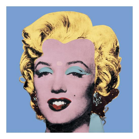 Shot Light Blue Marilyn, 1964-Andy Warhol-Art Print
