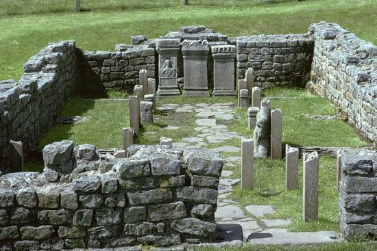 Shot of a Mithraic temple near Hadrian's Wall. Artist: Unknown-Unknown-Photographic Print