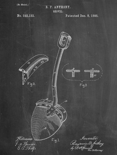 Shovel Patent--Art Print
