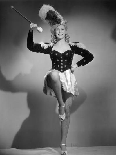Show Girl in Costume W/Baton-George Marks-Photographic Print