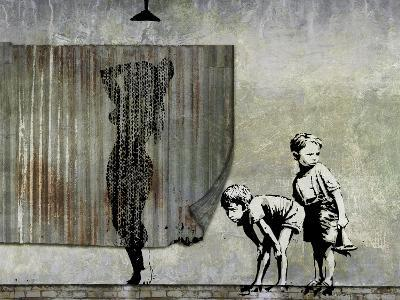 Shower Peepers-Banksy-Giclee Print
