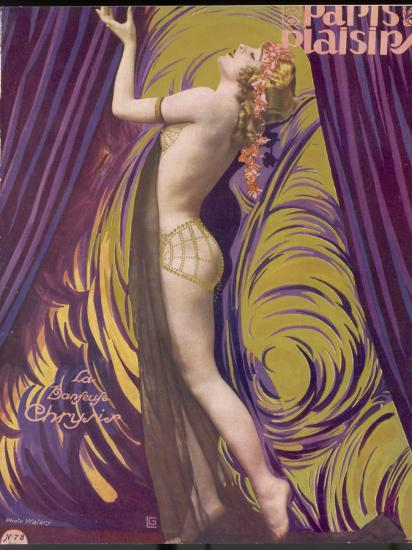 Showgirl and Dancer Chrysis, on a Beautiful Front Cover Design--Photographic Print