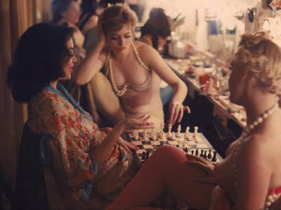 Showgirls Playing Chess Between Shows at Latin Quarter Nightclub-Gordon Parks-Photographic Print