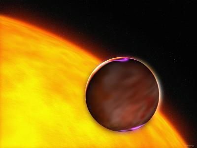 Shows a Dramatic Close-Up of the Extrasolar Planet XO-1B Passing in Front of a Sun-Like Star-Stocktrek Images-Photographic Print