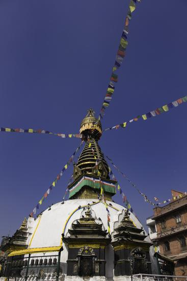 Shree Gha Buddhist Stupa, Thamel, Kathmandu, Nepal, Asia-John Woodworth-Photographic Print