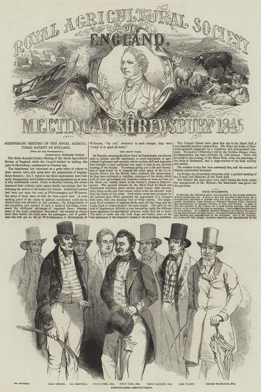 Shrewsbury Meeting of the Royal Agricultural Society of England--Giclee Print