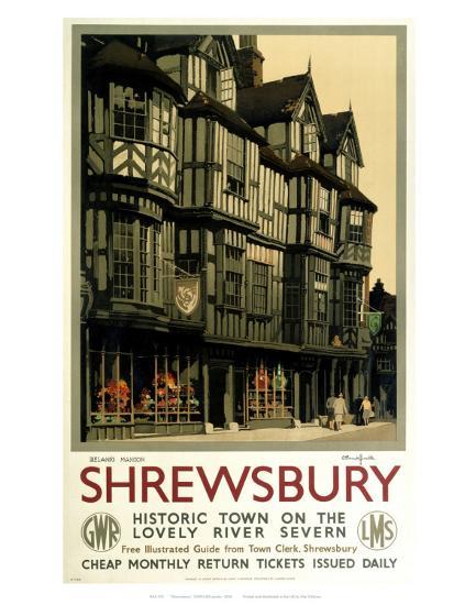 Shrewsbury--Art Print