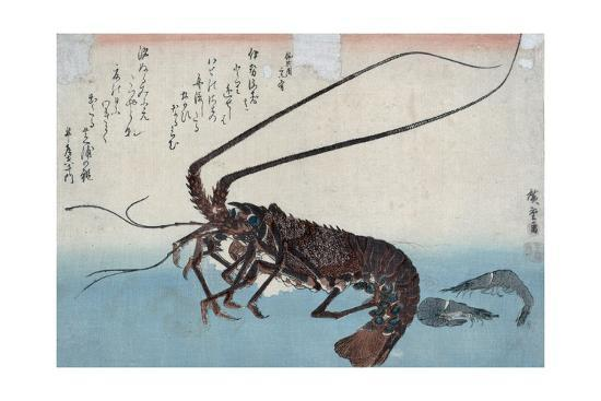 Shrimp And LobsterBy Ando Hiroshige