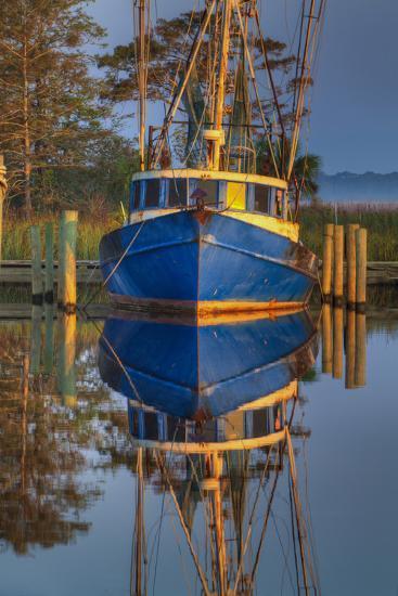 Shrimp Boat Docked at Harbor, Apalachicola, Florida, USA-Joanne Wells-Photographic Print