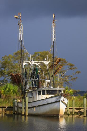 Shrimp Boat Docked at Harbor, Apalachicola, Florida, USA-Joanne Wells-Photographic Print