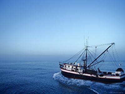 Shrimp Boat in the Gulf of Mexico-Kenneth Garrett-Photographic Print
