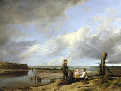 Shrimp Boys at Cromer, 1815-William Collins-Giclee Print