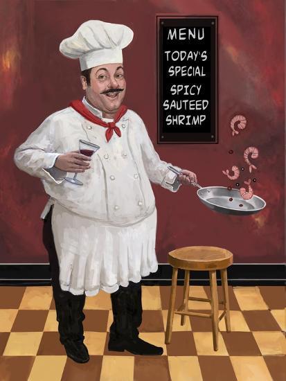Shrimp Chef-Frank Harris-Giclee Print
