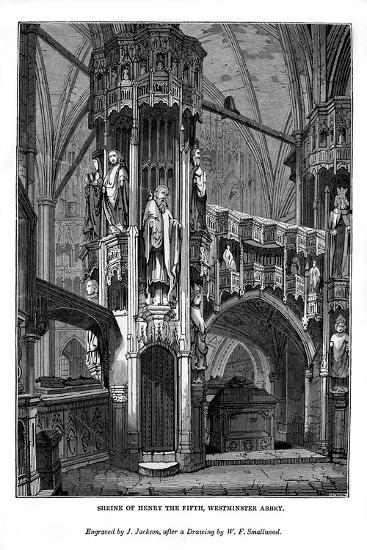 Shrine of Henry V, Westminster Abbey, 1843-J Jackson-Giclee Print