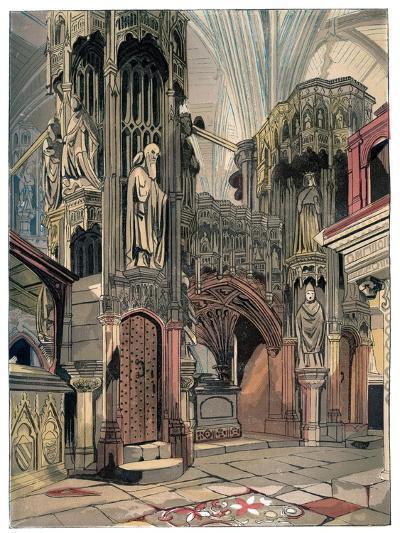 Shrine of Henry V, Westminster Abbey, London, C1850--Giclee Print