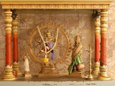 Shrine with Hindu Deity, a Dancing Shiva, at Sri Maha Mariamman Temple, Kuala Lumpur, Malaysia-Richard Nebesky-Photographic Print