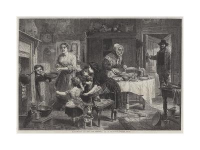 Shrovetide, Tossing the Pancake--Giclee Print