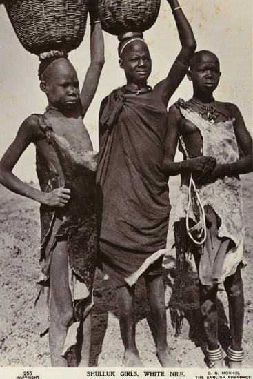 Shulluk Girls, White Nile--Photographic Print