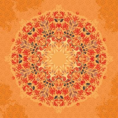 Ornamental Round Floral Lace Pattern by shumo4ka
