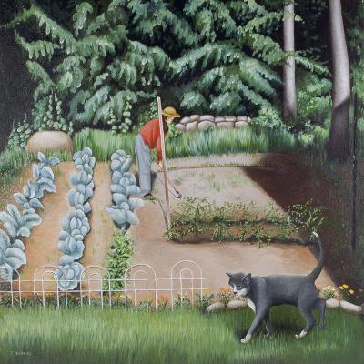 Shutesbury Garden, 1993-Caroline Jennings-Giclee Print