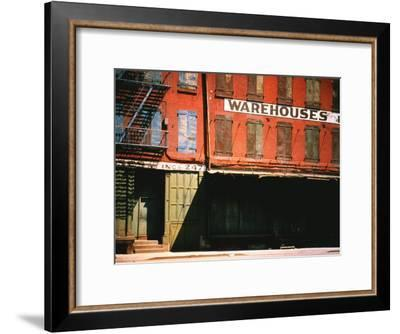 Shuttered Warehouse on the Lower East Side Lit by Late Day Sunlight-Walker Evans-Framed Premium Photographic Print