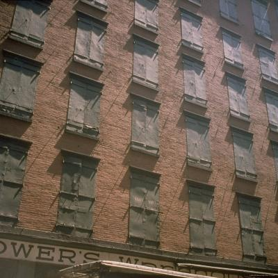 Shuttered Warehouse on Worth Street Lit by Late Day Sunlight-Walker Evans-Photographic Print
