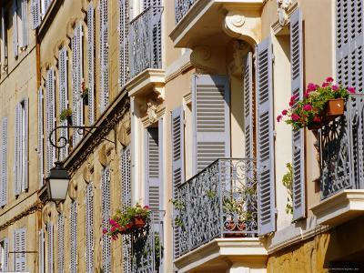 Shutters and Balconies, Aix En Provence, Provence, France, Europe-John Miller-Photographic Print
