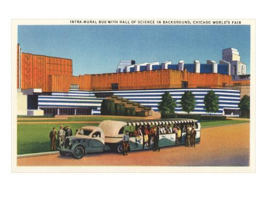 Shuttle Bus, Chicago World's Fair--Art Print