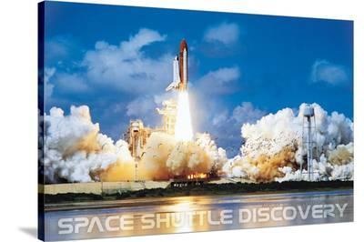 Shuttle Discovery Launch--Stretched Canvas Print