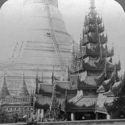 Shwedagon Pagoda, Rangoon, Burma, C1900s-Underwood & Underwood-Photographic Print