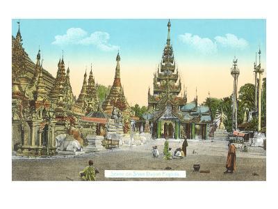 Shwedagon Pagoda, Rangoon, Burma--Art Print