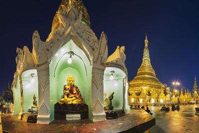 Shwedagon Paya at Dusk-Jon Hicks-Photographic Print