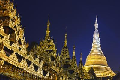 Shwedagon Paya at Night-Jon Hicks-Photographic Print