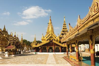 Shwezigon Pagoda, Bagan (Pagan), Myanmar (Burma), Asia-Jordan Banks-Photographic Print